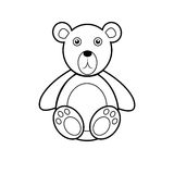 Teddy bear icon. Bear on a light background. Teddy bear icon Stock Photography