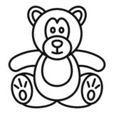 Teddy bear icon, outline style. Teddy bear icon. Outline teddy bear vector icon for web design isolated on white background vector illustration