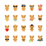 Teddy bear icons set. Stock Images