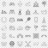 Teddy bear icons set, outline style. Teddy bear icons set. Outline style of 36 teddy bear vector icons for web for any design stock illustration
