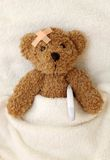Teddy bear ill Royalty Free Stock Photo
