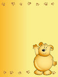 Teddy bear illustration Stock Image