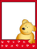 Teddy bear illustration. Red Background with teddy bear Royalty Free Stock Photo