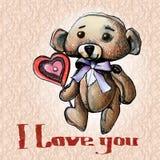 Teddy bear illustration Royalty Free Stock Images