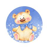 Teddy Bear Illustration d'aquarelle illustration stock