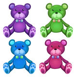 Teddy bear. Illustration of different color teddy bears Royalty Free Stock Photos
