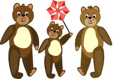 Teddy bear illustration. stock images