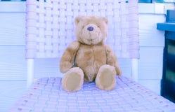 Teddy Bear im weichen leicht- Weinleseton Stockfoto