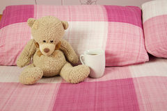 Teddy Bear In Bed Royalty Free Stock Image