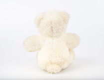 Teddy Bear on Isolate background. bow cute art nice love floor b. Aby play child one joy doll studio toy object animal concept romantic retro worry young give Royalty Free Stock Images