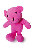 Teddy Bear isolated. A plush pink Teddy Bear isolated on white stock images