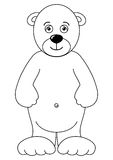 Teddy-bear isolated, contours Royalty Free Stock Photos