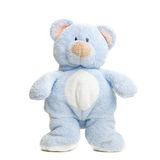 Teddy bear . Isolated over white. Stock Image