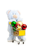 Teddy bear . Isolated over white. Stock Images