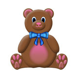 Teddy Bear. Isolated on a white background Royalty Free Illustration