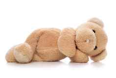 Teddy bear isolated. On a white background Royalty Free Stock Photo
