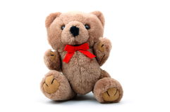 Teddy bear isolated on white background. Toy teddy bear isolated on white background Royalty Free Stock Images
