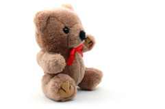 Teddy bear isolated on white background. Toy teddy bear isolated on white background Stock Image