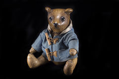 Teddy bear with jeans jacket Stock Image