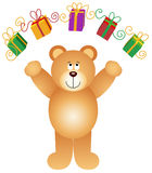 Teddy Bear Juggling Gifts Royalty Free Stock Image