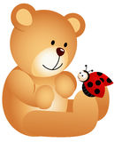 Teddy Bear with Ladybird Stock Images