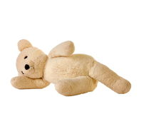 Teddy Bear laying on side Royalty Free Stock Images