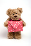 Teddy bear  with letter. Valentine's day Stock Photo