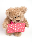 Teddy bear  with letter. Valentine's day Stock Photos