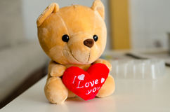 Teddy Bear in liefde Royalty-vrije Stock Afbeelding