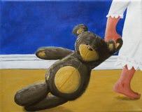 Teddy Bear with little girl Royalty Free Stock Photos