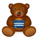 Teddy bear login Stock Photo