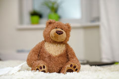 Teddy bear, Lonely teddy bear in the home royalty free stock image