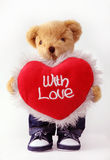 Teddy bear with love Stock Images