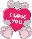 Teddy bear with love Royalty Free Stock Photo