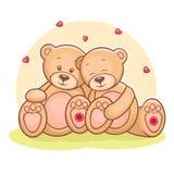 Teddy Bear love Stock Images