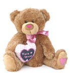 Teddy bear love. Teddy bear toy for children with love Stock Images