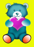 Teddy bear with Love Royalty Free Stock Photos
