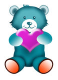 Teddy bear with Love Stock Image