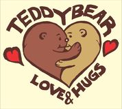 Teddy bear love Royalty Free Stock Images