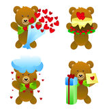 Teddy bear with love gifts Royalty Free Stock Photo