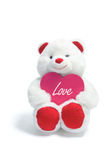 Teddy Bear with Love Heart Royalty Free Stock Photos