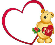 Teddy bear with love heart Royalty Free Stock Photography