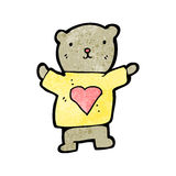 Teddy bear with love heart cartoon Stock Photos