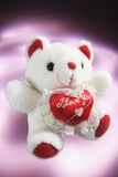 Teddy Bear with Love Heart Stock Photo
