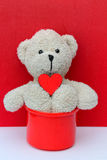 Teddy Bear and Love Stock Photography