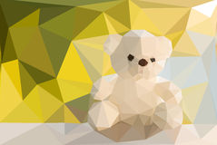 Teddy Bear low poly Royalty Free Stock Image
