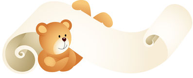 Teddy bear lying down on parchment Royalty Free Stock Photo