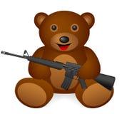 Teddy bear M16 vector illustration