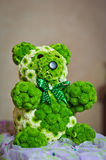 Teddy bear made by green flowers Royalty Free Stock Photo