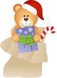 Teddy Bear in Mailbag Christmas Royalty Free Stock Photos